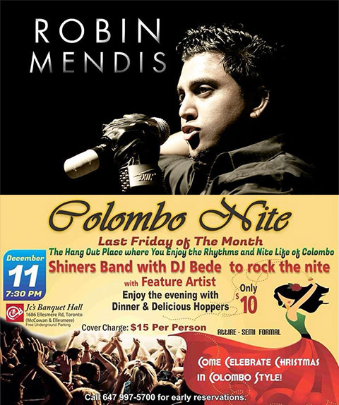 Featuring Robin Mendis @ Colombo Nite Grand X Mas Year Eng Bash
